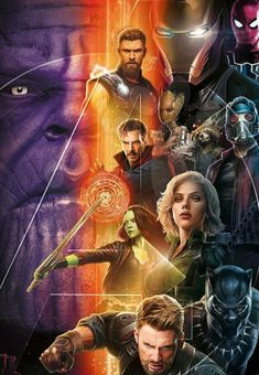 The official promo art for Infinity War!