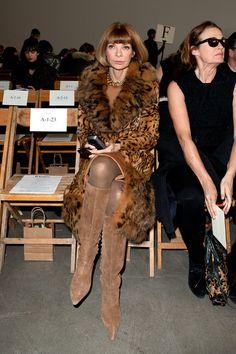 Anna at the Rodarte shoiw during 2011 Mercedes-Benz Fashion Week.