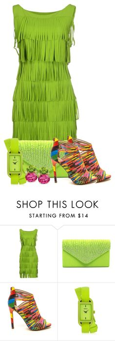 """""""Rainbow Strappy Heels Contest"""" by tlb0318 on Polyvore featuring La Petite Robe di Chiara Boni and Versus"""