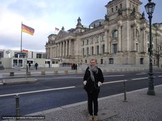 Junior Emily Nelson at the Reichstag Building in Berlin, Germany.