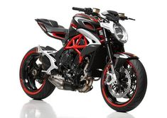 MV Agusta has unveiled a special version of the Brutale created in partnership with Pirelli to celebrate the Brutale 800 and Pirelli's new sport tire, the Diablo Rosso III. Indian Motorcycles, Triumph Motorcycles, Cool Motorcycles, Moto Bike, Motorcycle Bike, Mv Agusta Dragster, Ducati Monster Custom, Predator Helmet, Kart