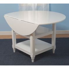 Cottage White Round Dining Table | Overstock.com Shopping - The Best Deals on Dining Tables