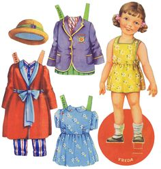 """""""Fred and Freda""""* The International Paper Doll Society by Arielle Gabriel for all paper doll and paper toy lovers. Mattel, DIsney, Betsy McCall, etc. Join me at #ArtrA, #QuanYin5 Linked In QuanYin5 YouTube QuanYin5!"""