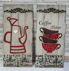 Placa Café Arte Pallet, Cafe Bar, Vintage Coffee, Gisele, Coffee Time, Happy Day, Pallets, Biscuit, Decoupage