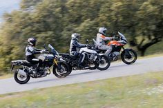 Comparativa trail: KTM, Suzuki, Triumph | Motociclismo.es Ktm, Trail, Motorcycle, Vehicles, Pictures, Motorcycles, Cars, Motorbikes, Vehicle