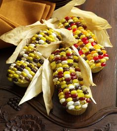 Indian Corn Cupcakes made with Jelly Bellys!