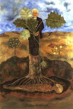 """Luther Burbank"", öl von Frida Kahlo (1907-1954, Mexico)"