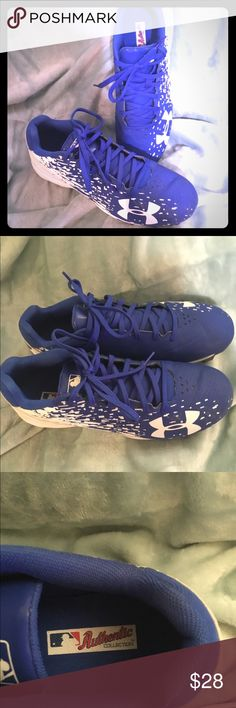 Under Armour baseball cleats worn once 7.5 B Under Armour baseball cleats worn once 7.5 B.  Genuine merchandise MLB authentic collection.  Nice! Under Armour Shoes Athletic Shoes