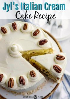 Live Chat, Greek Cookies, Sweet News Story, Quotes, & More! Italian Cream Cakes, Italian Cake, Cake Mix Recipes, Dessert Recipes, Potluck Recipes, Yummy Recipes, Baking Recipes, Baking Ideas, Just Desserts