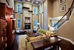 Toll Brothers - The Henley Two-Story Family Room