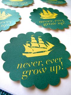 love these party favors... would be great attached to the red and white bag (Make as Coasters with there mottos on it with there logos)