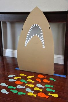 Feed the Shark Alphabet Game for Kids~use with sight words as well as upper and lower case letters, and even numbers