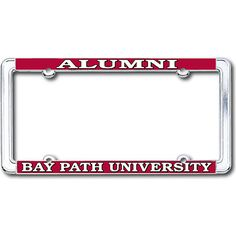 Product: Bay Path University Alumni Thin Dome License Plate Frame