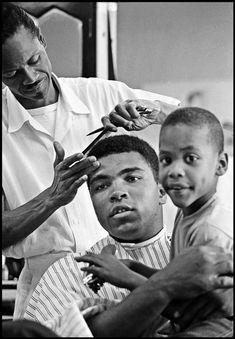 Muhammad Ali, dark icon, barbershop, african american, history