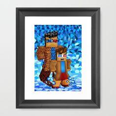 8bit boy with 10th Doctor shadow Framed Art Print #artprint #artdesign #frameart…