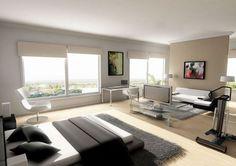 Bachelor pad bedroom design idea for small studio apartments