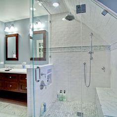 slope ceiling ideas for the bathroom