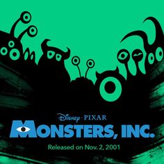 13 years ago today, Disney Pixar released Monsters, Inc.