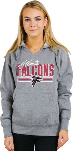 Authentic NFL Apparel Women's Atlanta Falcons Holiday Logo Hoodie