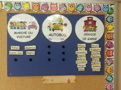 Autobus, marcheur, service de garde Decoration, School, Organization, Classroom Management, Preschool, Posters, Tools, Decorating, Dekorasyon