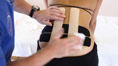 How to treat Lower back pain  - Kinesiology Taping