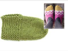 Hvordan strikke og montere tøflene i DROPS Extra (Tutorial Video) Knitting Patterns Free, Free Knitting, Knitting Socks, Drops Design, Video Library, Easter Parade, Knit Crochet, Slipper, Socks