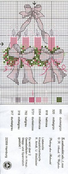 Christmas Cross Stitch. Love these colors.