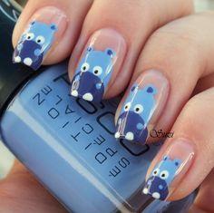 Hippo Nails - DIY Nail Art Designs