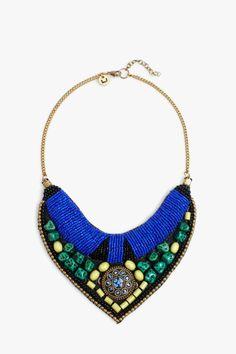 Collar tribal abalorios - collares | Adolfo Dominguez shop online