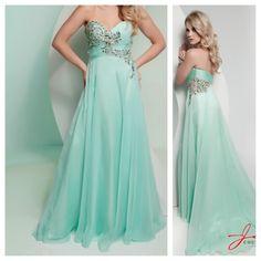 Jasz couture mint prom dress. So pretty!