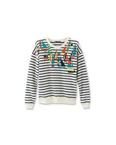 Petit Bateau | Black Women's Graphic Sailboat Print Sweatshirt | Lyst
