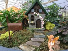 Welcome home! Another fairy garden at Glenwild Gardens.