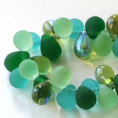 8x6mm Czech Glass Bead Teardrop Mix - Jewelry  Making Supplies - 6x8mm 4 colors ( 40 Pieces - Seafoam Peridot AB) by funkyprettybeads on Etsy https://www.etsy.com/listing/194863774/8x6mm-czech-glass-bead-teardrop-mix
