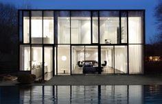 fachadas quadradas com garagem - Pesquisa Google