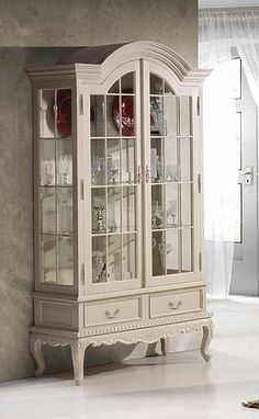 Vitrina 2 puertas La Rochelle - Suit Tutorial and Ideas Art Deco Furniture, French Furniture, Paint Furniture, Shabby Chic Furniture, Furniture Design, Furniture Dolly, Luxury Furniture, Office Furniture, Glass Cabinet Doors