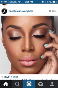 Hochzeit Make-up Afroamerikaner besten Fotos - Hochzeit Make-up - Cuteweddingideas . Day Makeup, Girls Makeup, Makeup Looks, Makeup Ideas, Makeup Style, Makeup Trends, Makeup 2018, Dress Makeup, Dark Skin Makeup