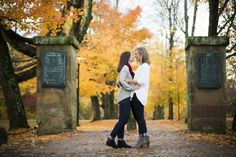 Fall College Campus Engagement Shoot | Amy Ann Photography on @loveincmag via @aislesociety