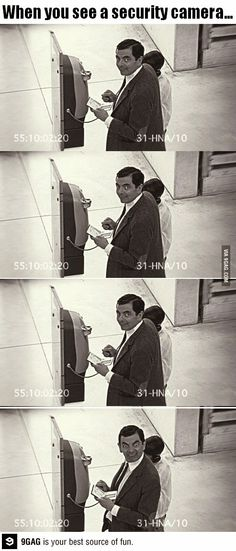 Funny pictures about Every time you see a security camera. Oh, and cool pics about Every time you see a security camera. Also, Every time you see a security camera. Funny Shit, Funny Cute, Funny Posts, The Funny, Funny Memes, Hilarious, Funny Stuff, Random Stuff, Funny Things