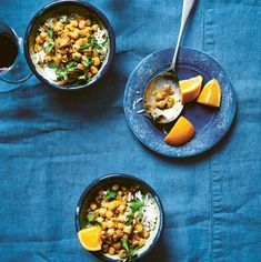 A recipe for flavor-packed gluten-free Spanish Chickpea Stew from LEON Fast Vegan by Rebecca Seal, Chantal Symons, and John Vincent. Spanish Stew, Tuscan Bean Soup, Vegan Soups, Vegan Recipes, Vegetarian Meals, Cream Of Broccoli Soup, Chickpea Stew, New Cookbooks, Dried Beans
