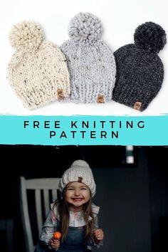 Baby Hat Knitting Patterns Free, Knit Beanie Pattern, Baby Hats Knitting, Knitting For Kids, Free Knitting, Quick Knitting Projects, Knit Hat Pattern Easy, Free Pattern, Free Baby Patterns