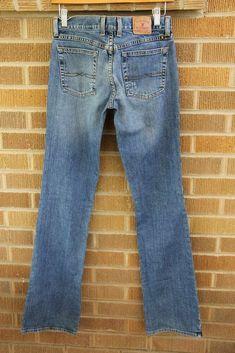 5bfb737e Details about Lucky Brand~Straight Leg Jeans~Medium Blue Denim  Wash~26x35~Long inseam