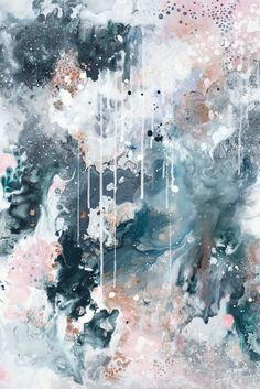 """«Nordic Sky - Storm I"""", art mural abstrait impression - Peinture Contemporary Abstract Art, Abstract Wall Art, Painting Abstract, Abstract Print, Watercolor Art, Blue Painting, Pink Abstract, Contemporary Artists, Wal Art"""