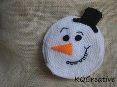 Crochet Coin Purse with Zipper - Mr Snowman