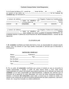 Ley y Hombre - Servicios Jurídicos: Carta Responsiva, Compra Venta Automovil