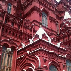 Moscow, Russia Moscow Russia, Ruby Red, To Go, Louvre, Mansions, Architecture, House Styles, Building, Places