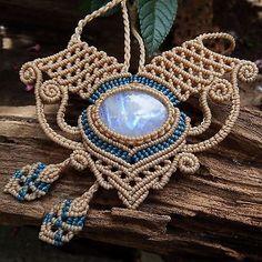 Pingente Colar De Macramê Selenita Pedra Cabochão feito à mão Cordão Encerado   Joias, bijuterias e relógios, Joias artesanais, Colares e pingentes   eBay!