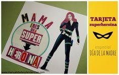 Tarjeta de superheroina para el día de la madre