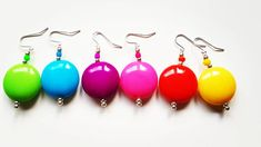 Spring is coming. Spring Is Coming, Neon Colors, Happiness, Drop Earrings, Beads, Handmade, Instagram, Jewelry, Beading