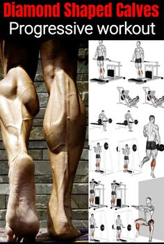 The best calf building workout does not and should not have to be long and complicated. There is no noticeable benefit from doing many sets of various types of calf exercises. Unlike chest, legs, and triceps there is only 1 way to work each muscle o Gym Workout Chart, Gym Workout Tips, Fun Workouts, Calf Workouts, Traps Workout, Forearm Workout, Extreme Workouts, Workout Men, Biceps Workout
