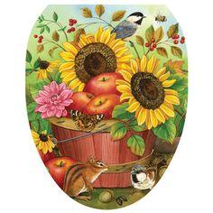 Abundant Basket Autumn Garden Flag Fall Apples Sunflowers Birds x Carson Decoupage, Sunflower Art, House Flags, Flag Decor, Country Art, Autumn Garden, Autumn House, Tole Painting, Fall Flowers